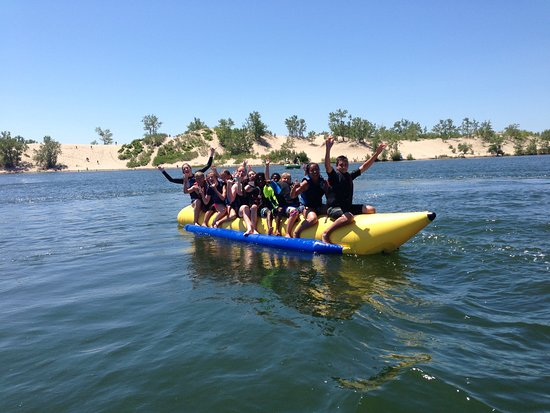 Westlake Wakeboard School: banana boat rides for all ages