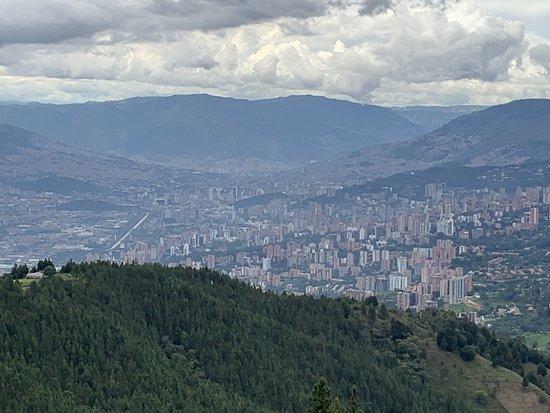 The Dark Days: Pablo Escobar and The New Medellin Tour: Overlooking Medellin from El Cathedral.