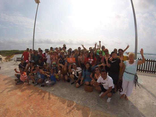 Mahahual, Mexico: Un tour genial con viajeros contentos =)