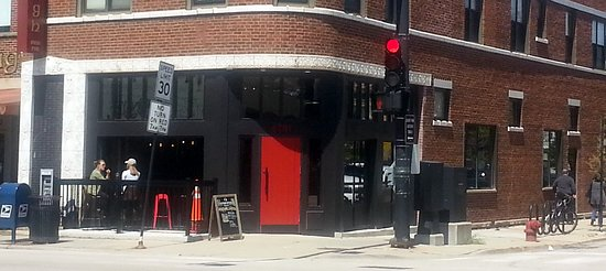 Merveilleux Que Onda Mexican Restaurant: The Front Of, The Corner Entrance With The Red  Door