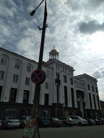 Sortavala, รัสเซีย: Вид со стороны автостанции