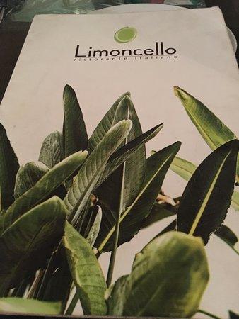 Menu cover for Limoncello restaurant