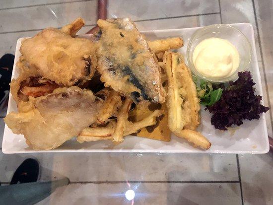 Sarde in tempura con verdure