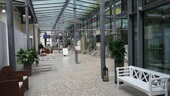 Saechsische Staatsbaeder Salt Water Hot Spring & Sauna World : zimní zahrada před vstupem do bazénů