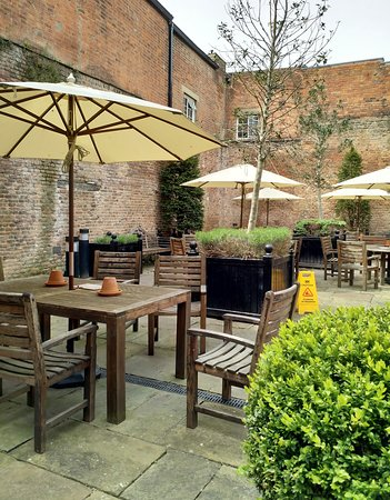 Impressive Walled Beer Garden