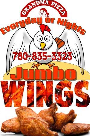 Fairview, แคนาดา: Jumbo Chicken Wings