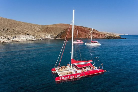 Sailing Catamaran Cruise in Santorini...