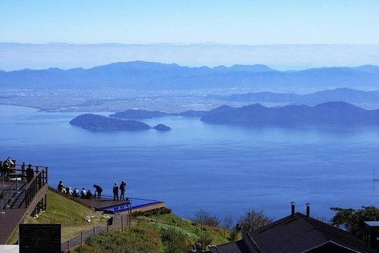 Spots high to the sky, Lake Biwa...