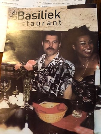 Restaurant De Basiliek: Food menu front cover
