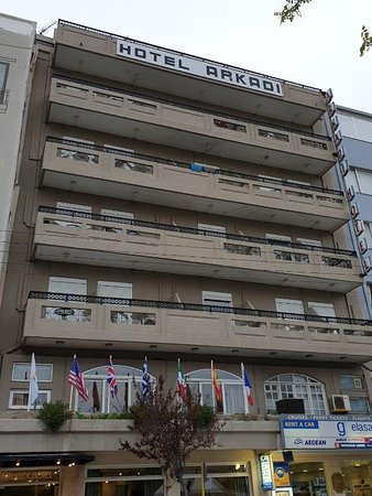 Arkadi Hotel facade.