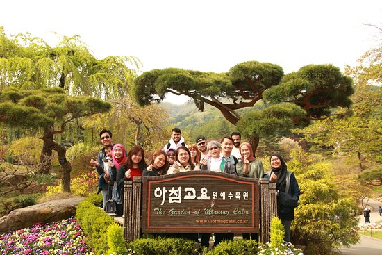 Nami Island, Petite France, Rail Bike and Garden of Morning Calm Tour: Our group photo. Too bad, Seo was not in it.