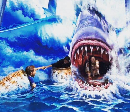 escape del tiburón