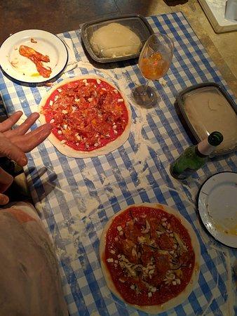 Pizza making class at Bunga Bunga