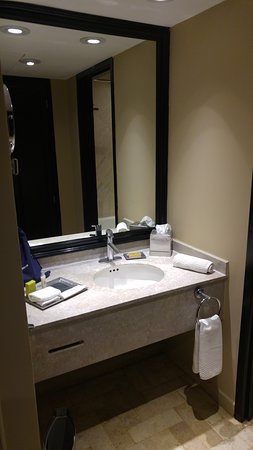 Hilton Mexico City Airport: The bathroom was clean and typical Hilton.