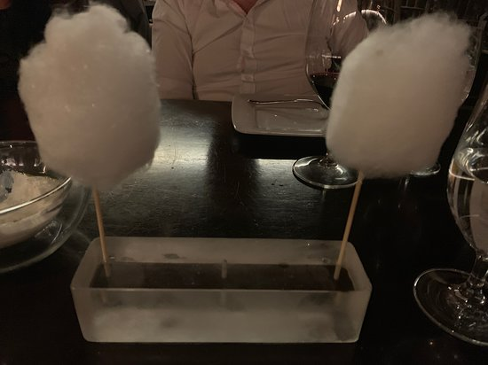 Bazaar Meat by Jose Andres: cotton candy foie gras