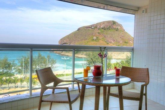 Suite Varanda - varanda frente mar