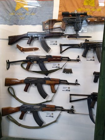 Irish Military War Museum & Family Park: cases of guns - many more