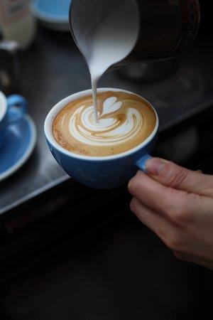 Latte art making