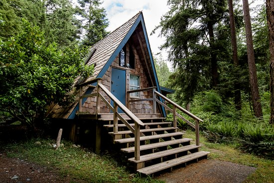 Hollyhock: Your choice of accommodation to fit your lifestyle. Pictured: a-frame cabin