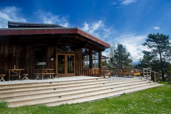 Hollyhock, Cortes Island - Main Lodge with outdoor deck to eat and relax on