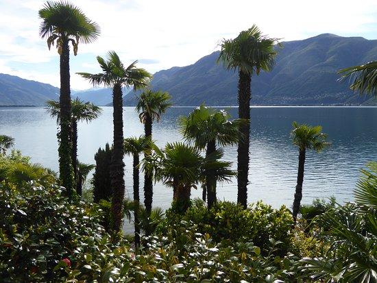 Blick von der Terrasse auf den Lago Maggiore.