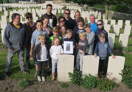 Desselgem, België: Op de foto met Uncle Frank! Heel ontroerend verhaal.