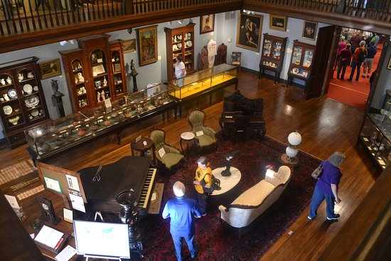 Helena Museum of Phillips County: view from upstairs looking down into the main room.