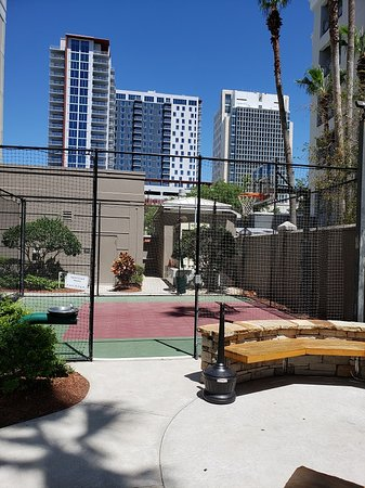 Outdoor area emphasizes fitness