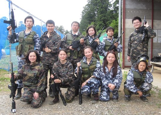 Inzai, Japan: paintball event