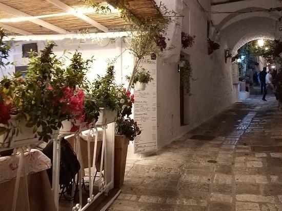 Ostuni, Italy: una via del centro storico