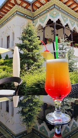Drinks in our beautiful garden!