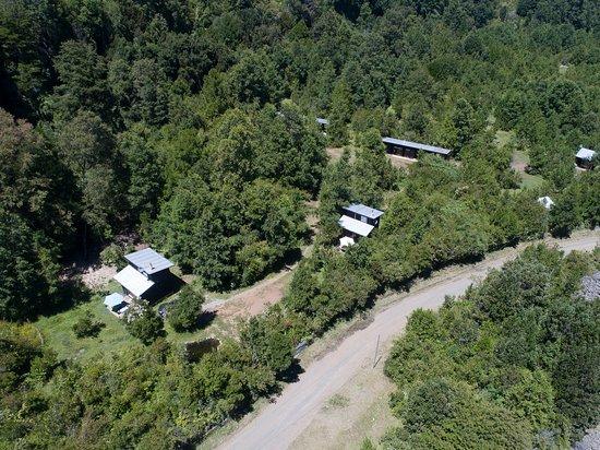 Pucura, Chile: Vista aérea del Lodge