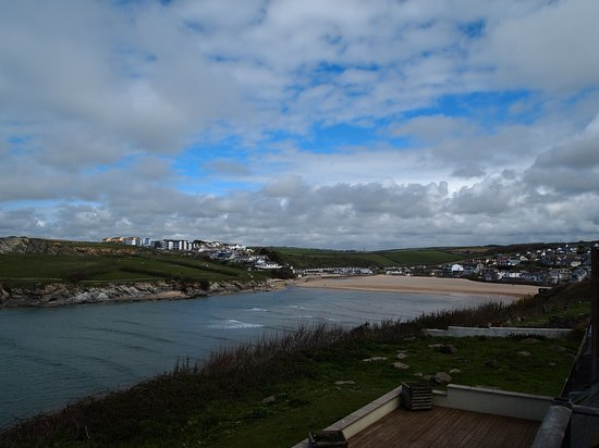 View from the patio looking towards Porth