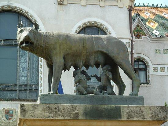 Targu Mures, โรมาเนีย: Statyn ''Lupoaicei din Târgu Mures'' i Târgu Mures