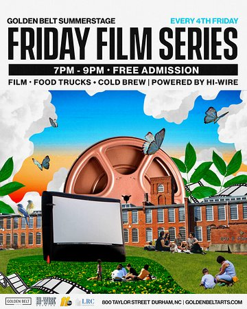 Each Fourth Friday of the month join us for a night of art, film, food and fun. This is FREE and open to the public.  Here is this season's lineup which is curated by Lana Garland (Insibah Media), Artistic Director for the Annual Hayti Documentary Film Festival: