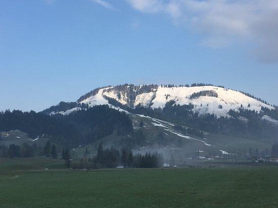 Hochfilzen, Autriche: Nach 2 Tagen Schnee nun wieder Sonne auf der Terrasse im ersten Stock