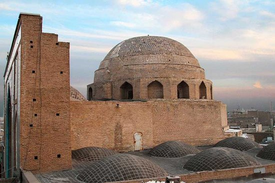 Dome of Jameh Mosque in Qom