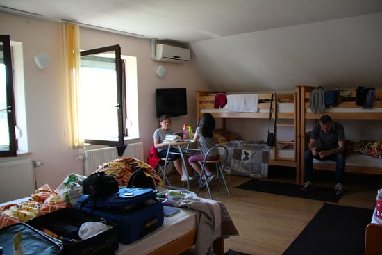 Zbilje, Słowenia: Mosticek Hostel, the big room in the end of the 2nd floor