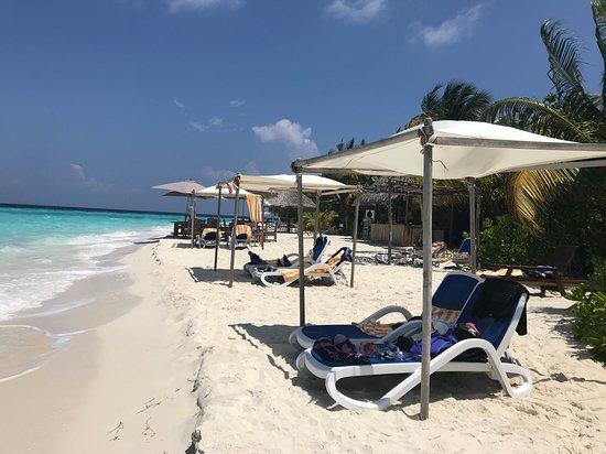 "Eriyadu Island Resort: ""Public"" beach area near the Beach bar"