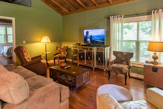 Our two-bedroom cabin is perfect for a larger group.