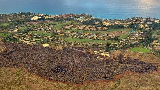 Blue Hawaiian Helicopter Tours - Maui: Wailea - Brushfire a Few Days Before