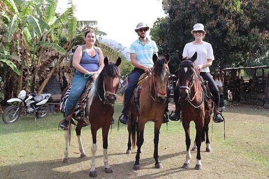 アティトラン湖で2つの村を訪れる乗馬: