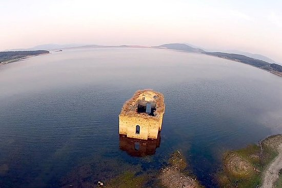 Submerged Church from a Floating...