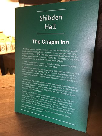 The Crispin Inn, relocated at Shibden Hall.