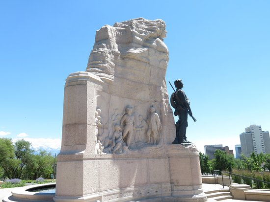 Mormon Battalion Monument In Salt Lake City, Utah