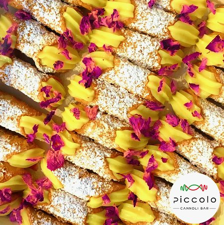 Vanilla Custard Cannoli with Edible Rose Petals