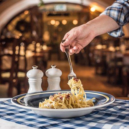 Spaghetti carbonara at Al Fresco