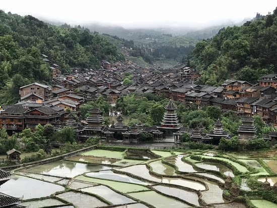 Гуйян, Китай: Zhaoxing village