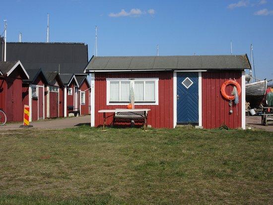 Råå Vallar badplats: maisons typiques