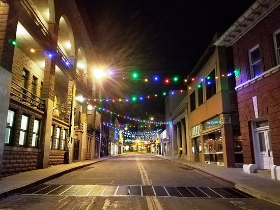 """Old Bisbee Ghost Tours: Part of the route for the ghost tour.  Bisbee was a great place for a night time """"ghost tour""""."""
